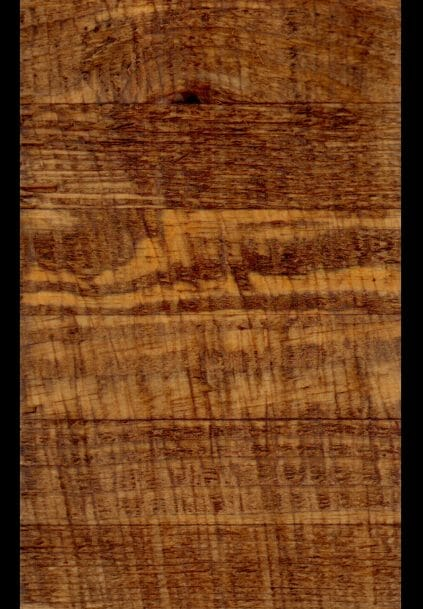 Glulam Southern Yellow Pine that has been Rough Sawn and has an Early American Stain