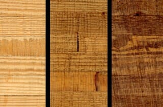 Glulam Southern Yellow Pine that has been Rough Sawn