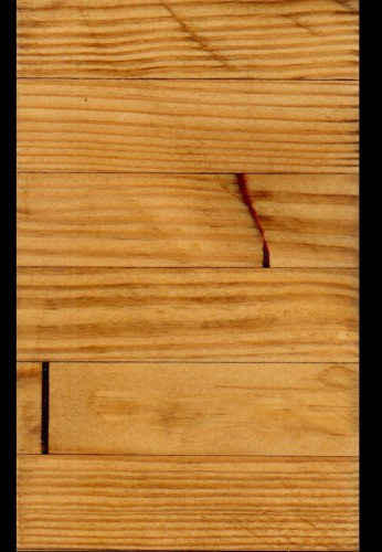 Glulam Southern Yellow Pine that has been Planed Smooth and has a Golden Oak Stain