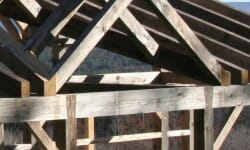 Weather Wood Beams for Sands Barn