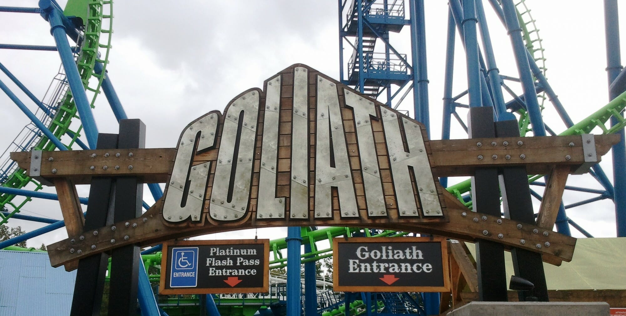 Timbers for Goliath Sign