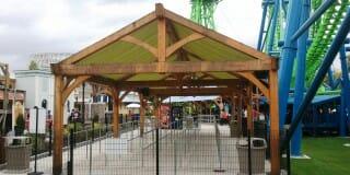 Timber Frame Shade Shelter