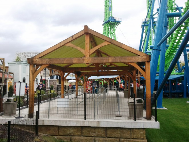 Timber Frame Shade Shelter