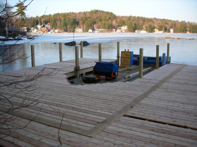 Dock, ready for new boathouse