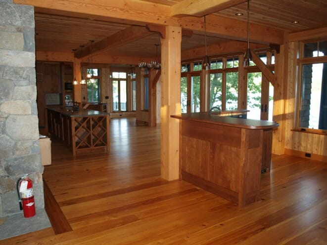 Lakeside Timber Home Post Amp Beam Adirondack House