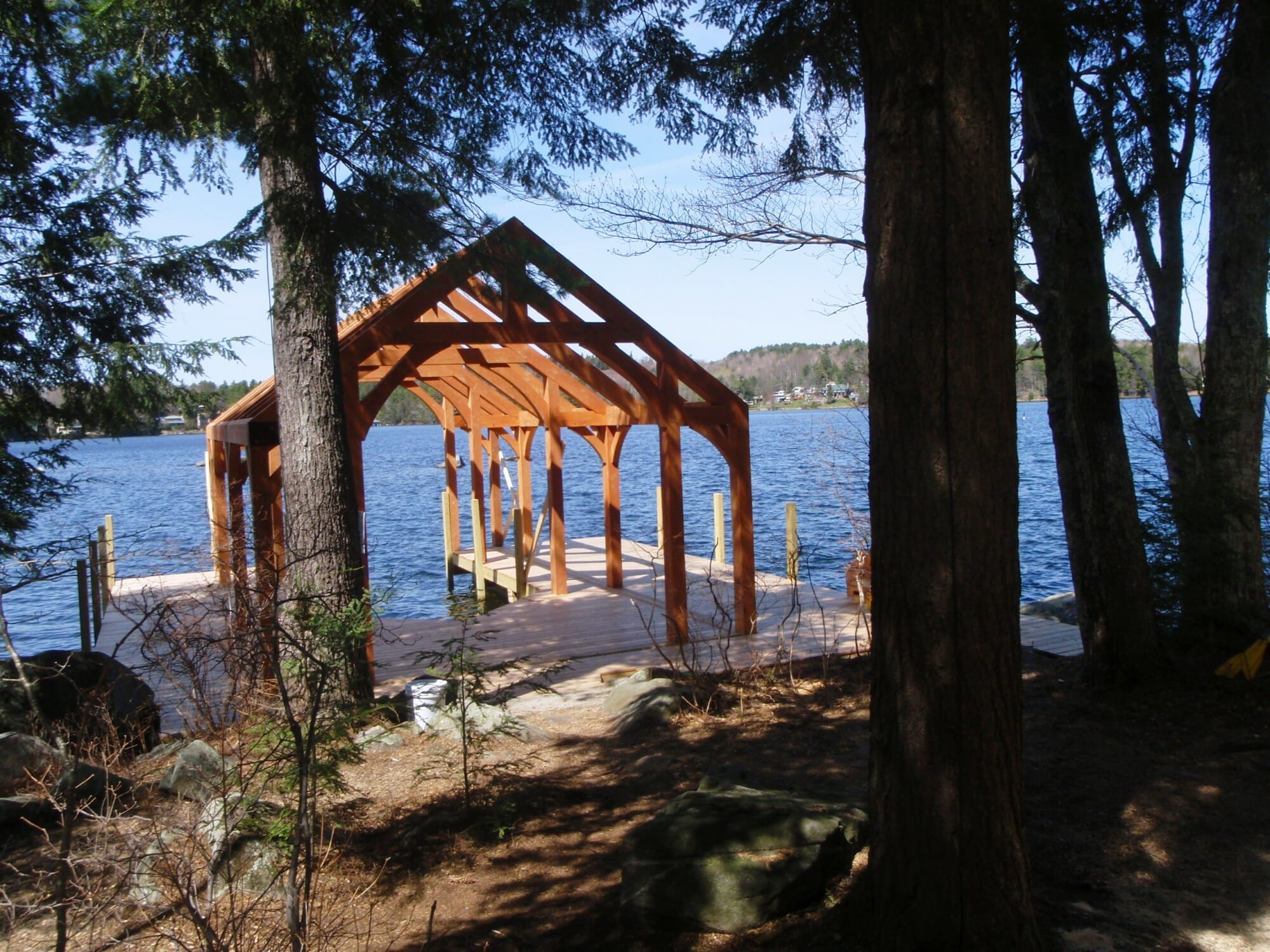 Timber Frame Boathouse