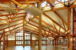 Dining Hall Wood and Steel Trusses for Camp Hayden
