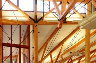 Wood Trusses with Steel Ties