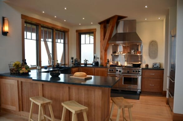 Custom Kitchen in a Custom Timber Frame Home