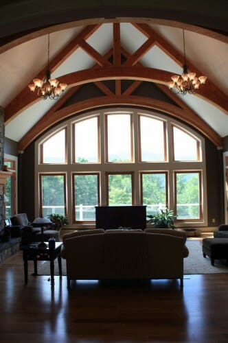 Living Room Timber Trusses