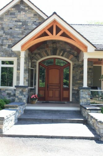 Timber Truss in a Stone Entry