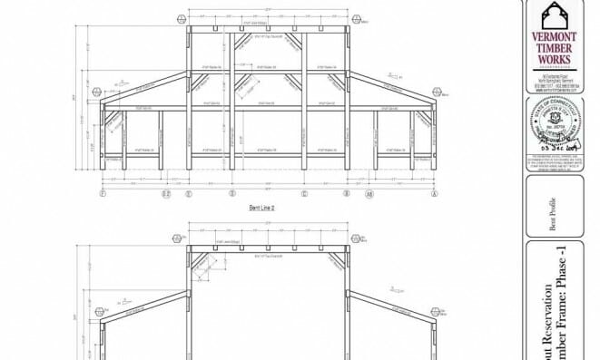 Timber Shop Drawings for the Deer Lake Dining Hall