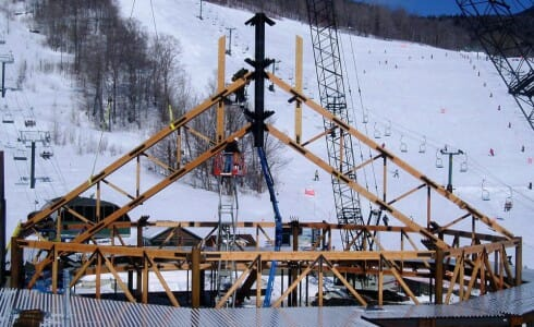 Eighty Foot Octagon Truss for a Ski Lodge