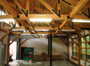Hemlock Timbers with Steel Joinery at Green Mountain Tech