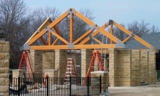In a timber frame world for Timber trusses for sale