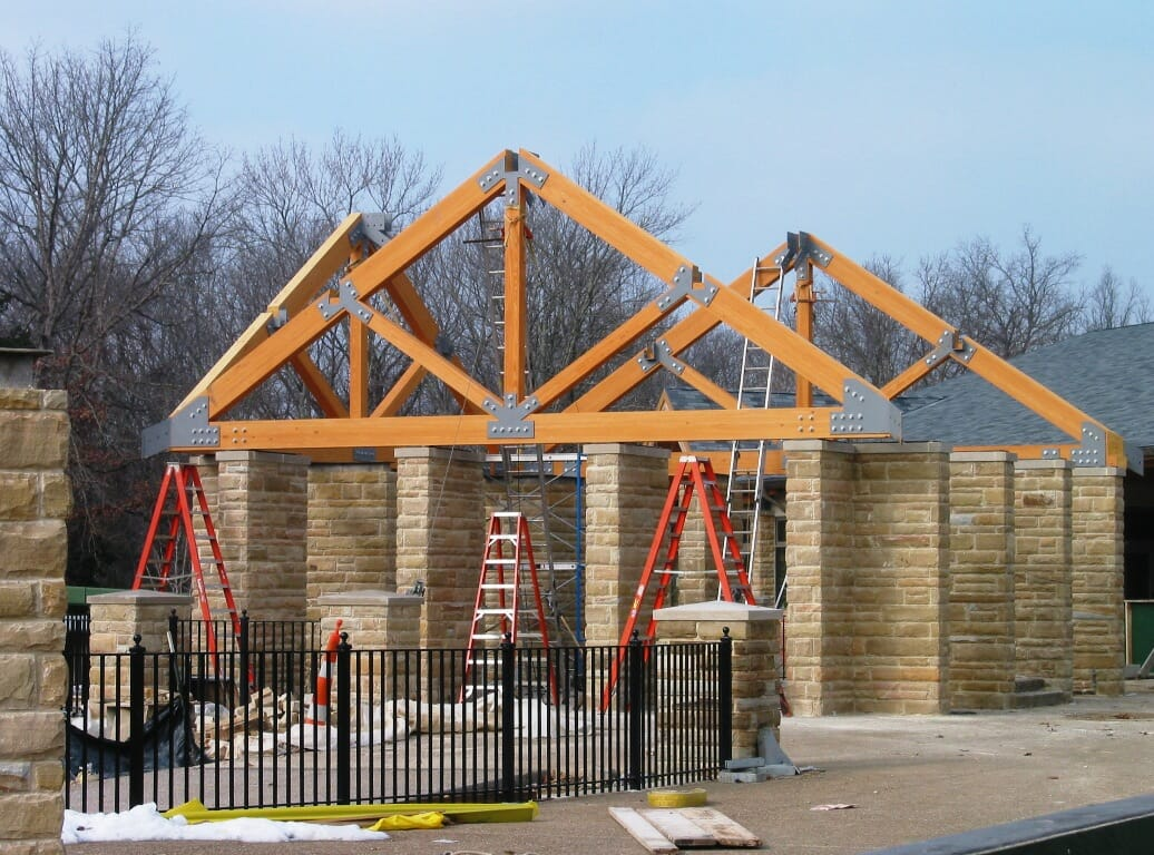 Steel Connected Commercial Trusses Timber Construction