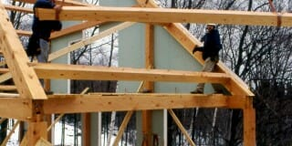 How long does it take to erect one of your timber frames?