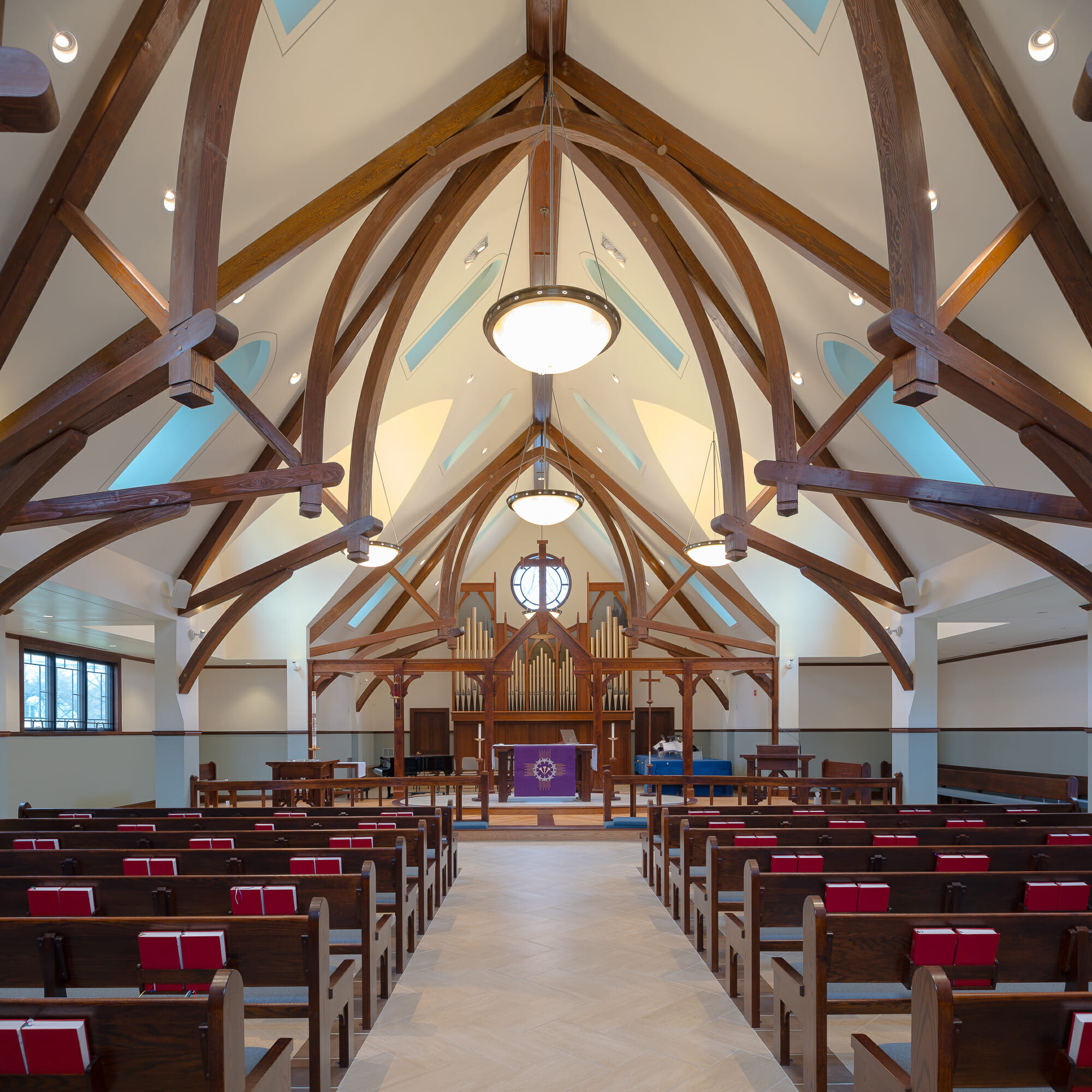Saint Andrew S Lutheran Church Heavy Timber Trusses