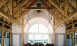 Timber Girder Trusses for the Vermont Veteran's Chapel