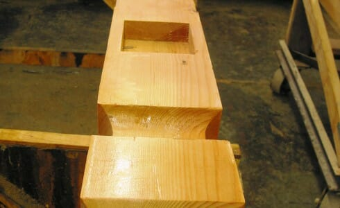 Close-up of a Planed Smooth Cut of Timber