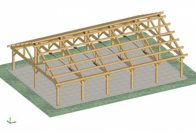 40'x60' Pavilion Frame for Bechtel Reserve