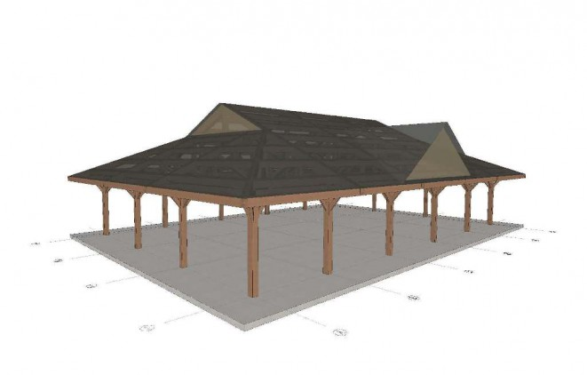 Timber Frame Pavilion for Cadwalader Park