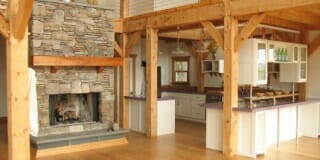Hand Hewn Post and Beam