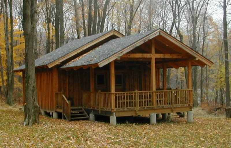 Cabin plans post and beam pdf woodworking for Small post and beam cabin plans