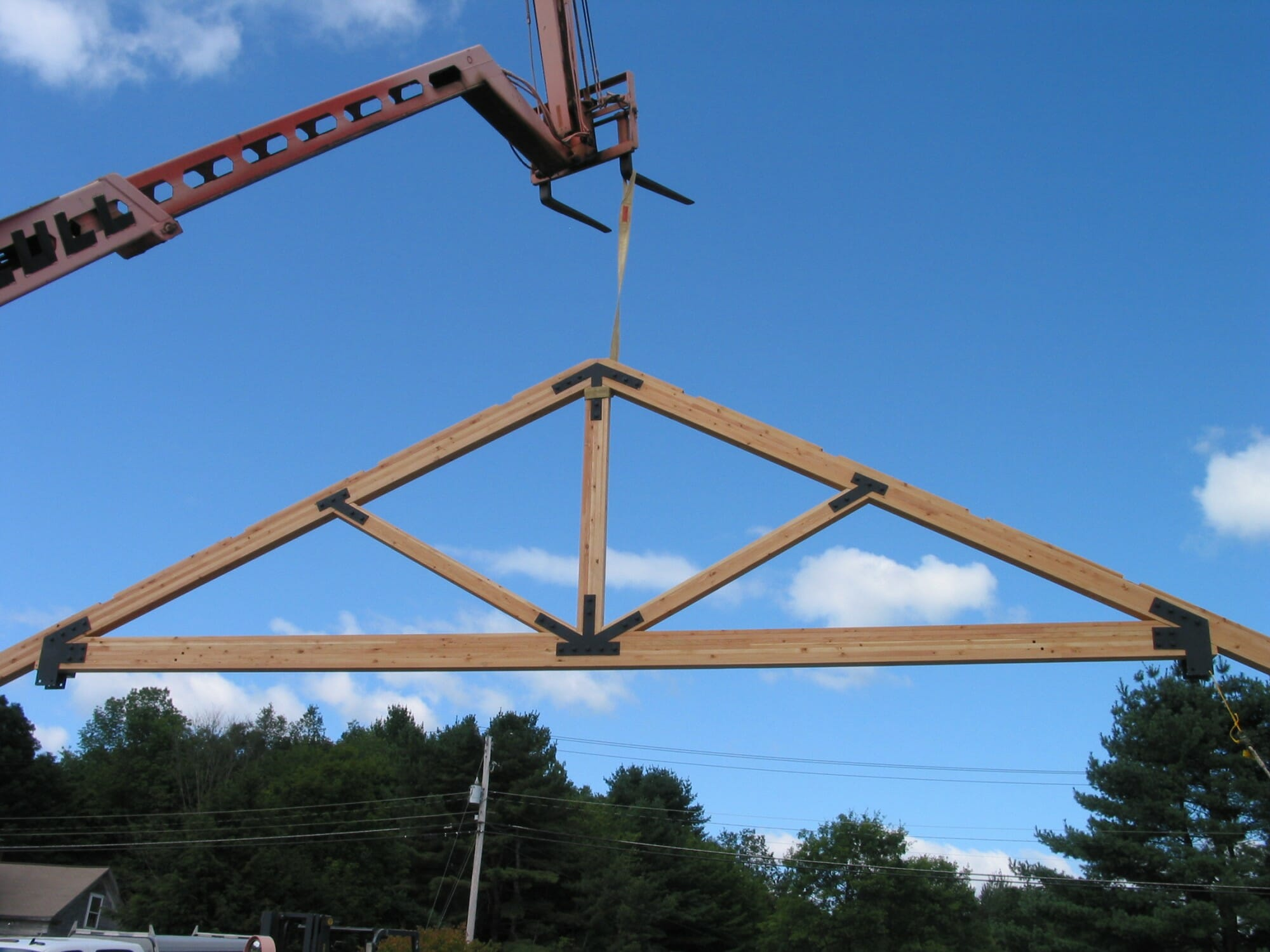 King Post Truss with Steel Gusset Plates