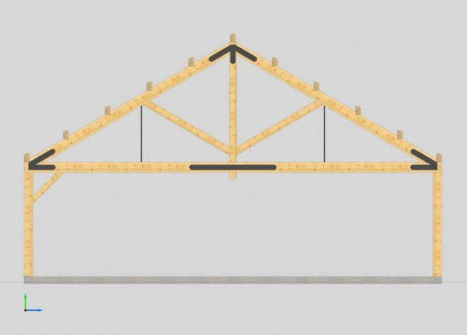 Basic Timber Truss Design for Hillsborough Summer Camp