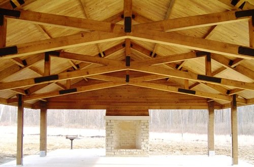Timber frame craftmanship roof structures