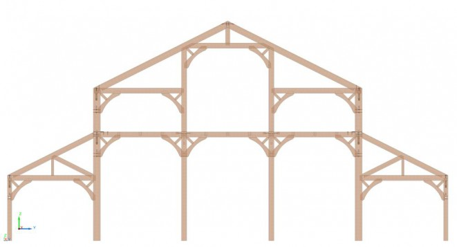 Wedding Pavilion with an Intricate Timber Frame Design