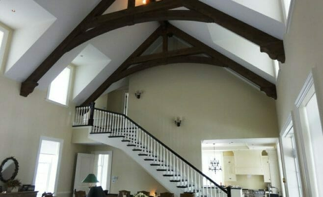 Home Interior with Exposed Timber Trusses