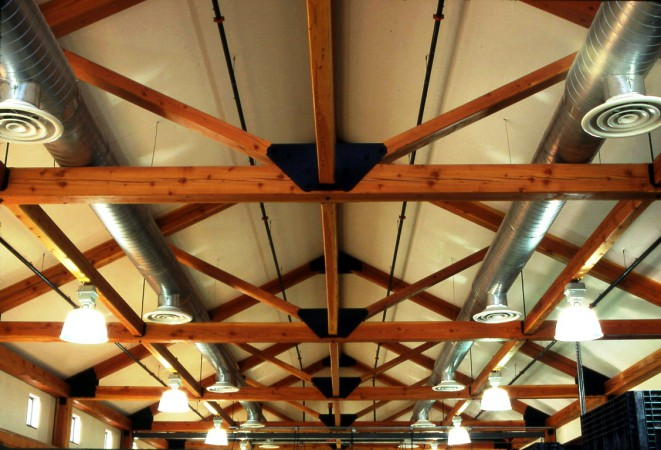 King Post Trusses Reinforced with Steel