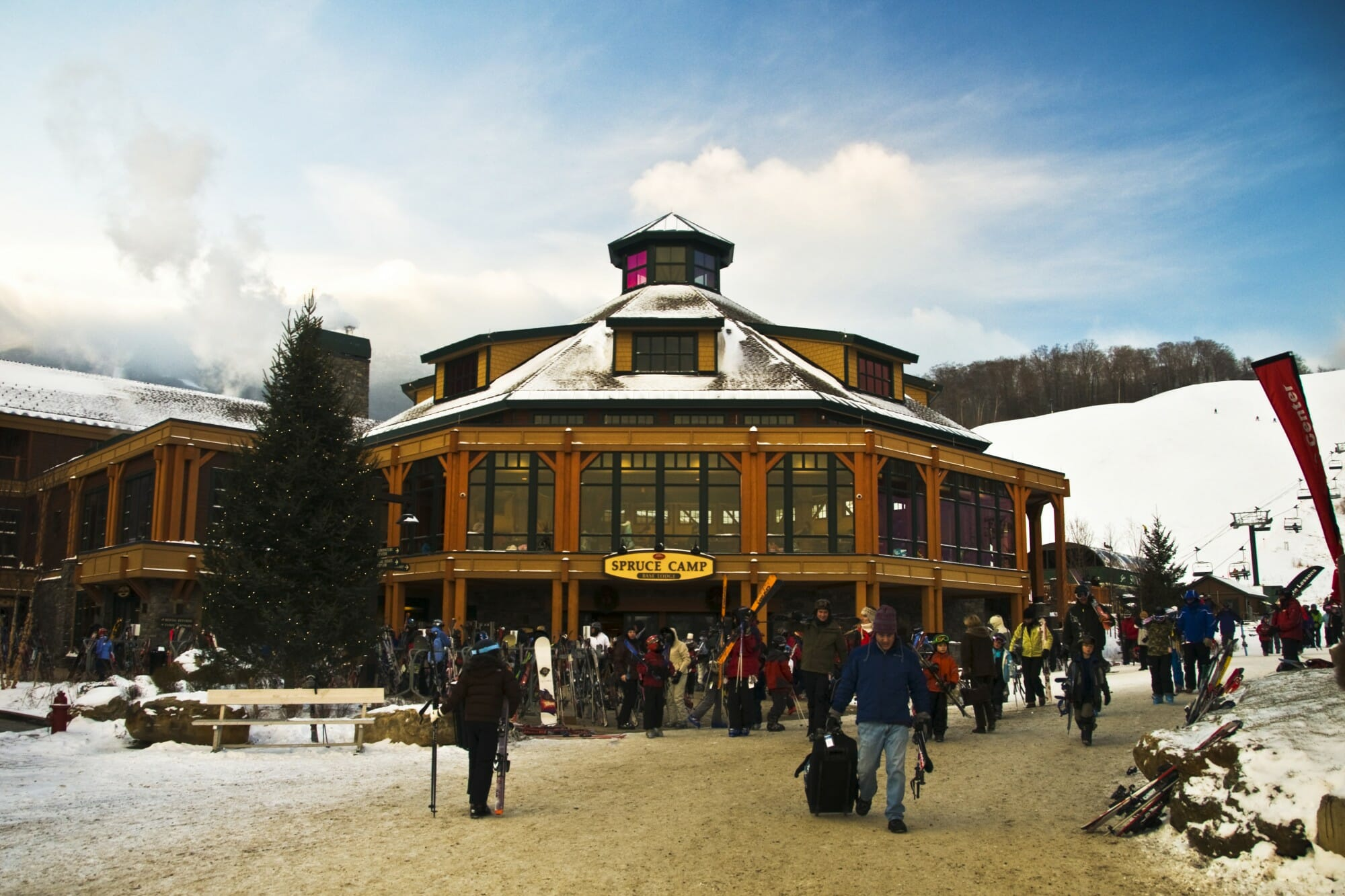 Spruce Camp Base Lodge in Stowe