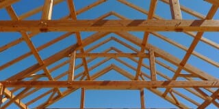 Timber Framing Blue Sky