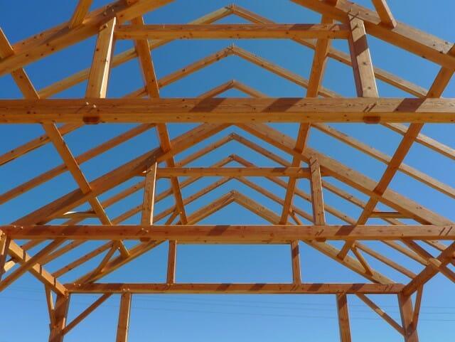 Timber Framing Blue Sky
