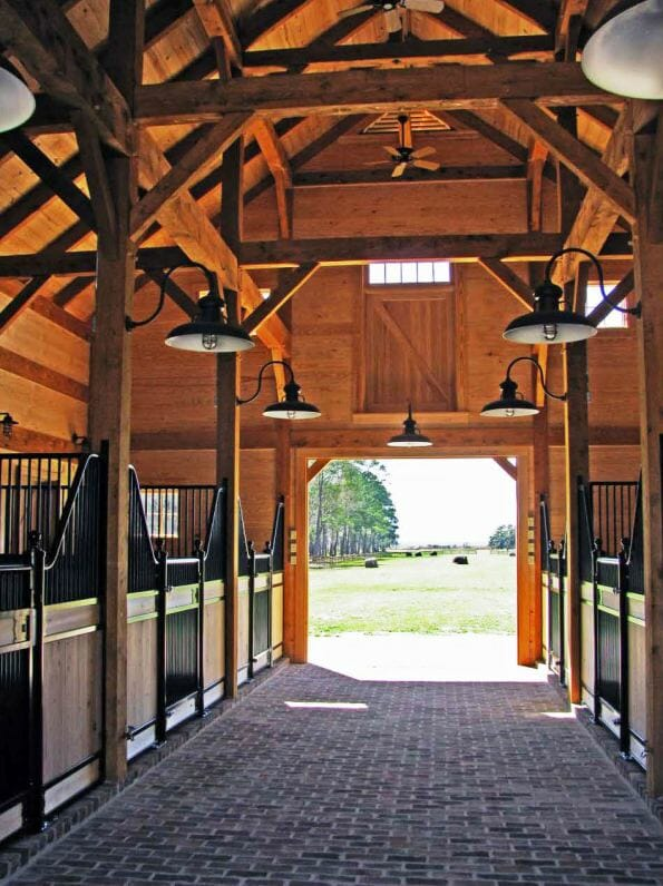 Timber Frame for the Horses
