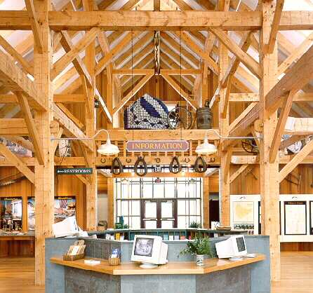 Southeastern vt welcome center hand hewn timber frame barn A frame barn plans