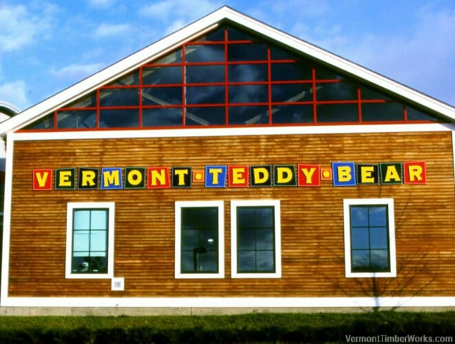 Timber Frame Construction for the VT Teddy Bear Factory | Vermont Timber Works