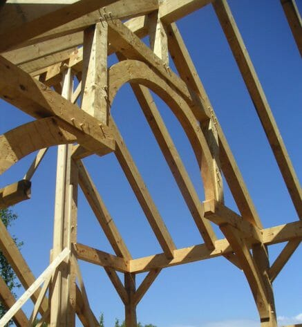 Hand Hewn Hemlock Timber Frame