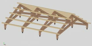 Scissor Truss Design with Purlins