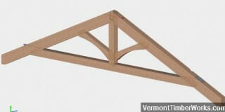 What Kind of Timber Dimensions and Roof Pitch Would be Comfortable for a 36' Span and Tennessee Location?