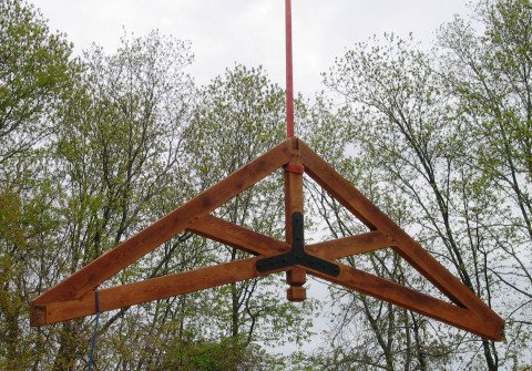 Scissor Truss in Red Oak