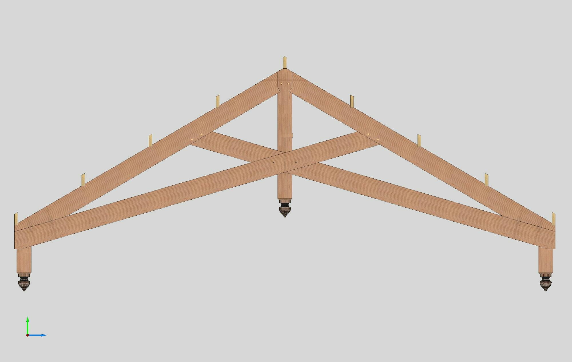 timber truss designs featuring the scissor truss