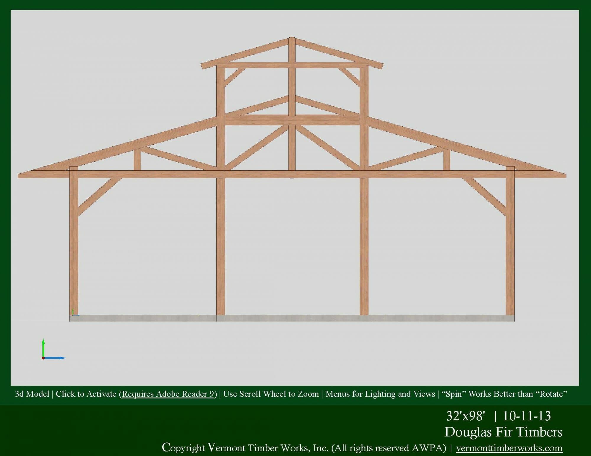 3d Models of Timber Frame Dining Halls