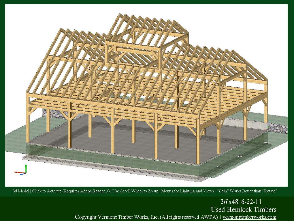 Timber Frame Homes And Barns In 3d Pdfs