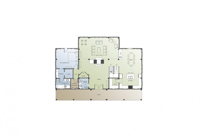 Bonin Architects_Farmhouse_1st Floor Plan