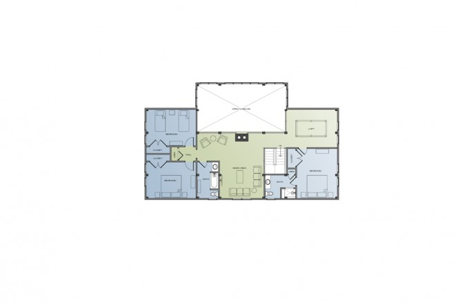 Bonin Architects_Farmhouse_2nd Floor Plan