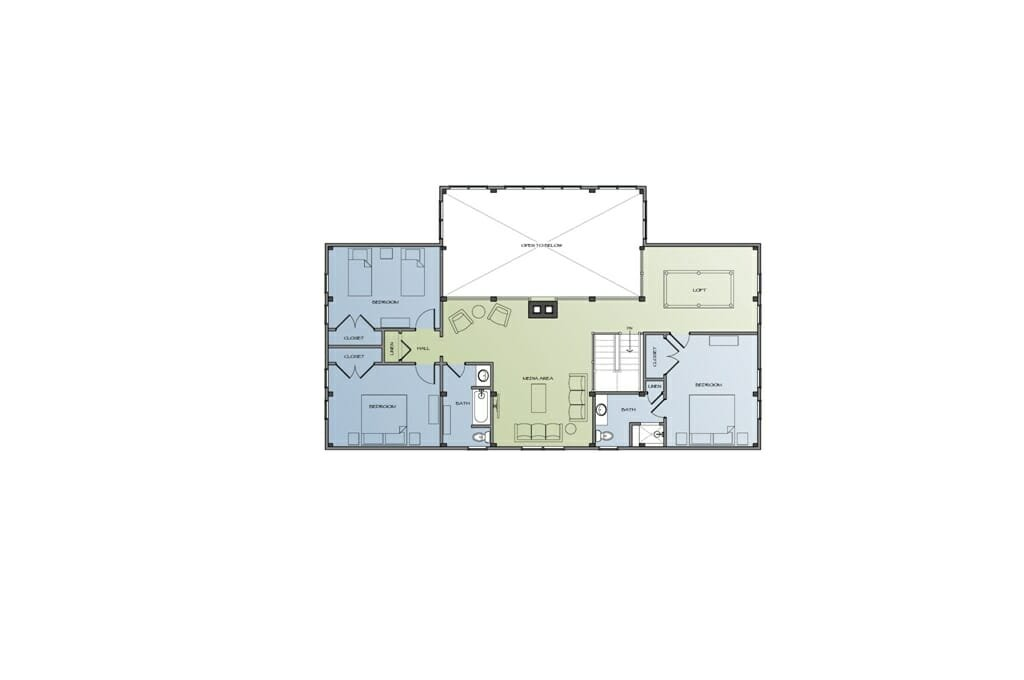 Timber Frame Farm House Floor Plan